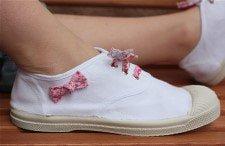 blanquear las zapatillas blancas