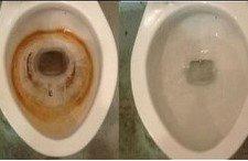 Quitar óxido del inodoro